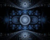 Fractal azul abstrato Foto de Stock Royalty Free