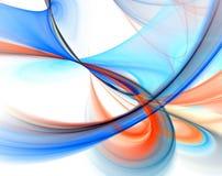Fractal azul da rusga sobre o branco ilustração stock