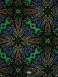Fractal azul e verde corajoso Imagem de Stock Royalty Free