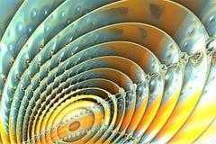 Fractal azul y amarillo libre illustration