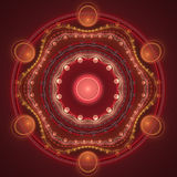 Fractal background. Abstract futuristic fractal a colour background Royalty Free Stock Photos