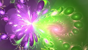 Fractal background with abstract bright pattern. High detailed loop stock video
