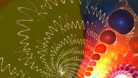 Fractal background with abstract curved shapes. High detailed loop stock video footage