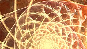 Fractal background with abstract golden spiral. High detailed loop stock video