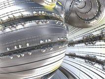 Fractal background, abstract illustration3D rendering. Fantastic city, 3D rendering, fractal abstract design Stock Illustration