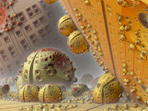 Fractal background, abstract illustration. Fantastic city, 3D rendering, fractal abstract design Royalty Free Illustration