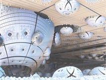 Fractal background, abstract illustration. Fantastic city, 3D rendering, fractal abstract design Stock Illustration