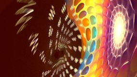 Fractal background with abstract roll curved shapes. High detailed loop stock video footage