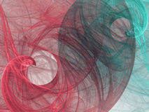 Fractal background with abstract swirls. Royalty Free Stock Photo