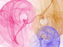Fractal background with abstract swirls. Stock Image