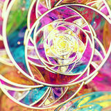 Fractal Background. Colourful fractal background with tilt and shift royalty free stock photo