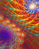 Fractal background - flower dance Royalty Free Stock Photography