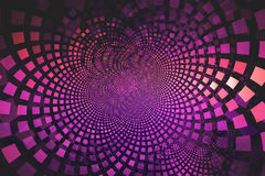 Fractal background with pink and magenta tiles flowing out from the center Royalty Free Stock Image