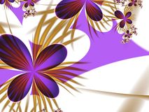 Fantasy floral image, backgroung for inserting text. Fractal background  with place for your text. illustration for your design Royalty Free Stock Photos