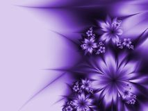 Fractal image with flowers. For your text. Fractal background  with place for your text. Template for inserting text Stock Images