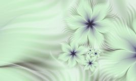 Fractal image with flowers. For your text. Fractal background  with place for your text. Template for inserting text Stock Photos