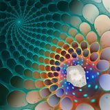 Fractal background with web dark cells Stock Images