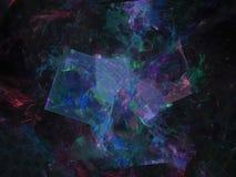 Fractal barstte de abstracte digitale maniertoekomst modern ontwerp, grafische energie, fantasie stock illustratie
