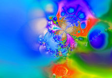 Fractal - 54. Beautiful picture, with rich textures. They are brightly optimistic. The original artistic achievement Royalty Free Stock Photography