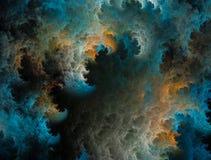 Fractal bewegt Hintergrund wellenartig Stockfotografie