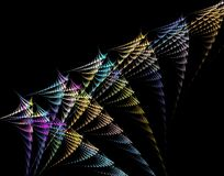 Fractal and black background Stock Photography