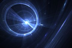 Fractal black hole in space Stock Photo