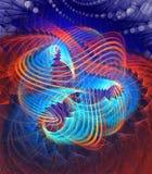 Fractal blauwe en oranje achtergrond Royalty-vrije Stock Afbeelding