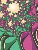 Fractal bloeiende bomen royalty-vrije illustratie