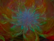 Fractal bloem abstract effect, creatieve het overladen decor toekomstige artistieke kleurrijk van de ontwerpenergie, dynamische a Royalty-vrije Stock Foto's