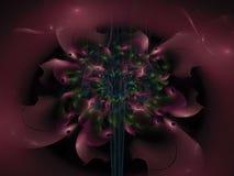 Fractal bloem abstract effect, creatieve toekomstige artistieke kleurrijk van het ontwerp overladen decor, dynamische achtergrond Stock Afbeeldingen