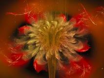 Fractal bloem abstract effect, etherische creatieve toekomstige artistieke kleurrijk van het ontwerp overladen decor, dynamische  Stock Afbeeldingen