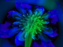 Fractal bloem abstract effect, het overladen decor toekomstige artistieke kleurrijk van het behang creatieve ontwerp, dynamische  Stock Afbeeldingen