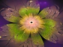 Fractal bloem abstract effect, het overladen decor toekomstige artistieke kleurrijk van de ontwerpbanner, dynamische achtergrond, Stock Fotografie