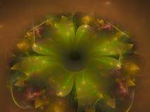 Fractal bloem abstract effect, ontwerp toekomstige artistieke kleurrijk, dynamische achtergrond, Stock Afbeeldingen