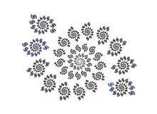 Fractal bloom. Romantically blue and white fractal bloom Royalty Free Stock Photos