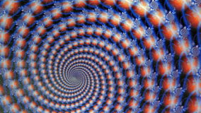 Fractal Blue Globes Spiraling Animation Background stock video