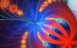 Fractal blue and orange background Stock Photo