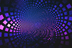 Fractal of blue and pink tiles flowing from the center Stock Photo