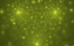 Fractal Blurry Lights. Cool modern green fractal background. Great design element Royalty Free Illustration