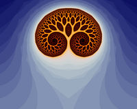 Fractal Brain (29a). Abstract fractal illustration, that reminds a human brain Vector Illustration