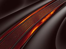 Fractal brandweg Stock Afbeelding