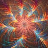 Fractal btight de achtergrond van de sterbloem stock afbeelding