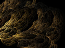 The fractal cave. Fractal reconstruction of a cave royalty free illustration