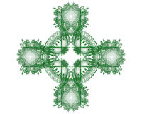 Fractal Celtic Cross I Royalty Free Stock Photo
