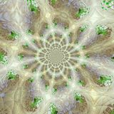 Fractal based on ceramic tile and leafs. Fractal ceramic tile and leafs Stock Photos