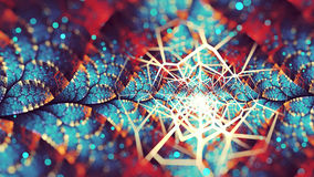 Fractal Chaos. A split elliptic combo fractal, with a little chaos and depth blur Stock Photos