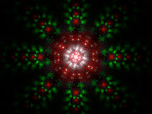 Fractal Christmas Julian Background Stock Image