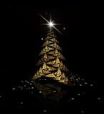 Fractal Christmas tree Stock Photo