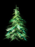 Fractal Christmas tree Stock Photos