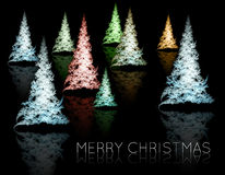 Fractal Christmas trees Stock Image